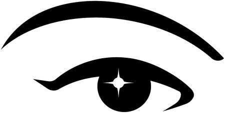 eyebrow makeup: Donna Bella Eye Vettoriali
