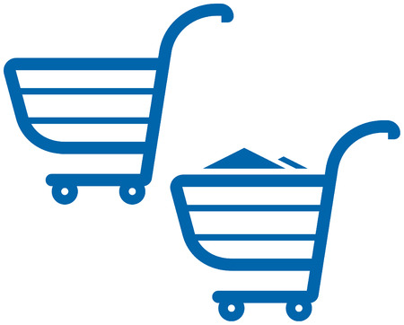 supermarket shopping cart: Ilustraci�n del vector carritos de la compra