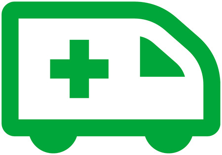 medizin logo: Vector Ambulance Car Illustration