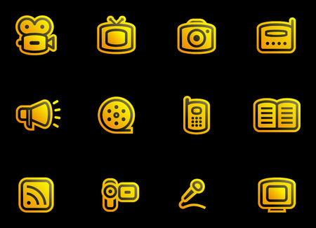 Media - Vector Icons Set  Stock Vector - 3633081