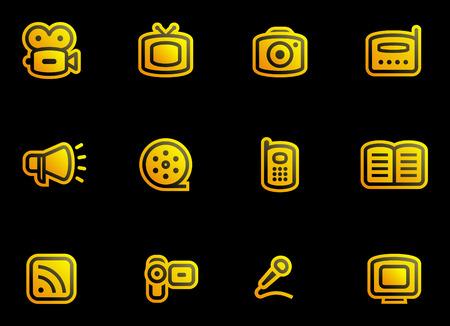 Media - Vector Icons Set Stock Vector - 3633081