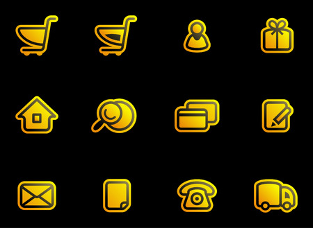 Vector E-Commerce Icon Set Stock Vector - 3633080