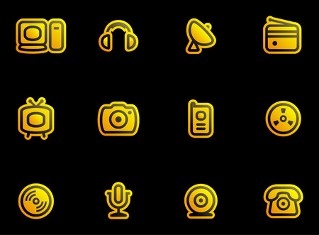 Media, Electronics & Communications  - Vector Icons Set  Vector