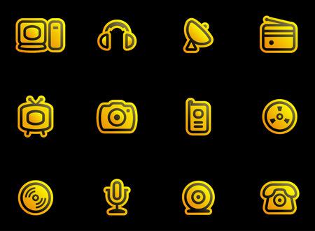 Media, Electronics & Communications  - Vector Icons Set  Vector
