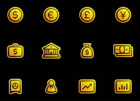Vector Finance, Banking Icon Set Vector