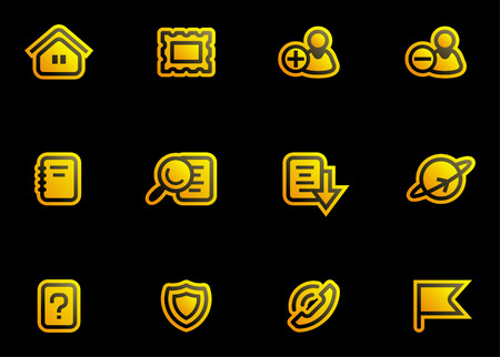 Vector Icons Set Stock Vector - 3633079