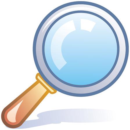 lupa: Icono de la lupa de vectores