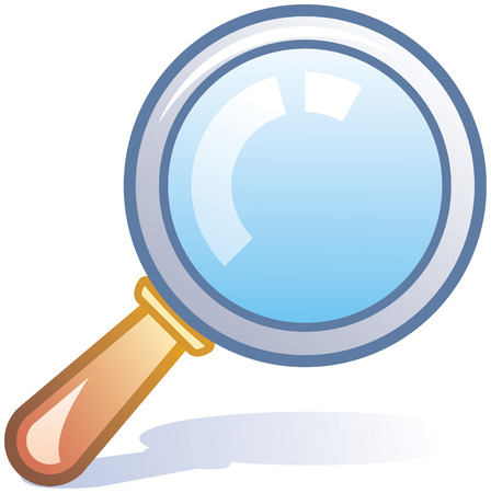 detect: Magnifying glass vector icon