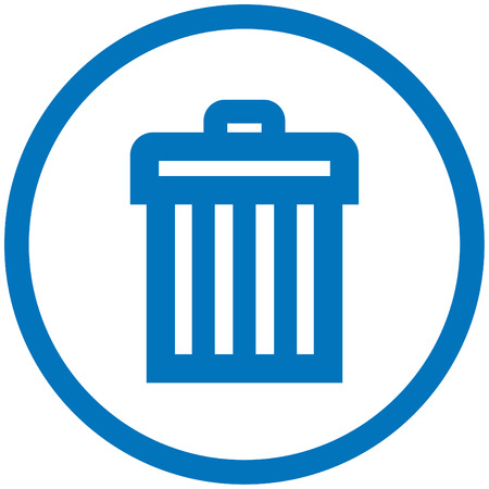 rubbish bin: Trashcan Illustration