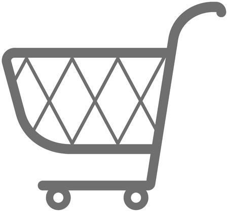 supermarket shopping cart: Carrito de la compra de ilustraci�n Vectores