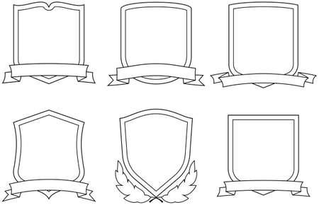shield emblem: Vector stemmi Vettoriali