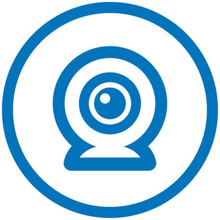 Webcam vector icon Illustration