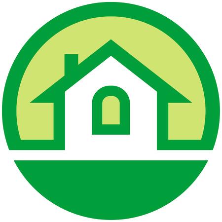 house rental: Real estate logo (Vector) Illustration