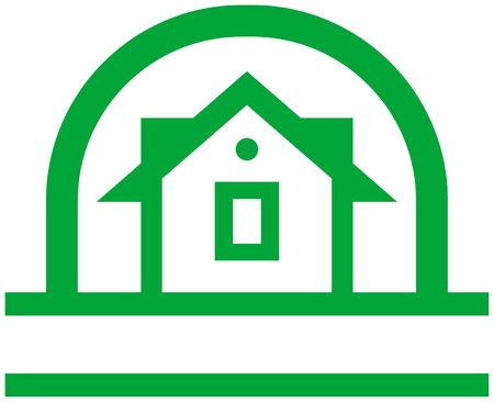 homestead: Country house vector logo