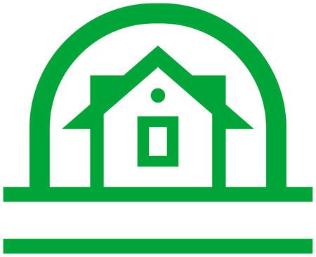 Country house vector logo