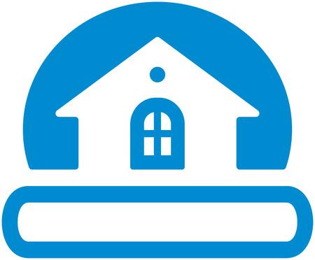 logo batiment: Immobilier logo (Vector)