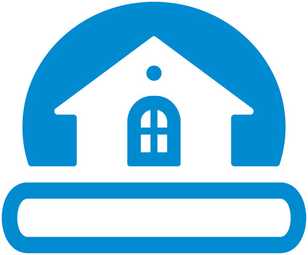 small house: Real estate logo (Vector) Illustration