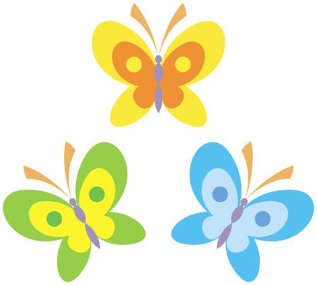 Butterflies vector illustration Stock Vector - 4960677