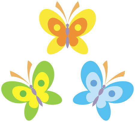 Butterflies vector illustration Stock Vector - 4960677