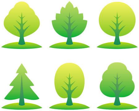 Vector trees illustration Vector