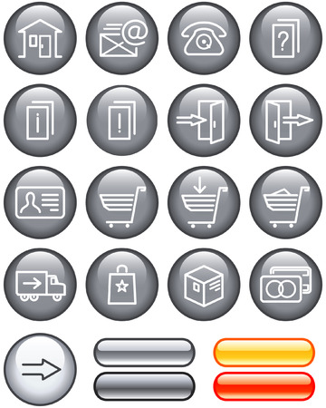 E-Commerce Icons Set (Vector) Stock Vector - 4960743