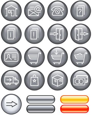 E-Commerce Icons Set (Vector) Stock Vector - 4960743