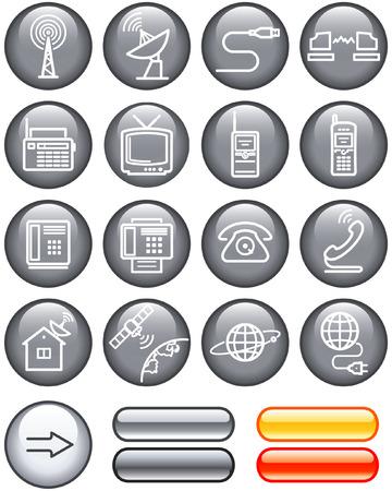 Media and communication icon set (Vector) Vector