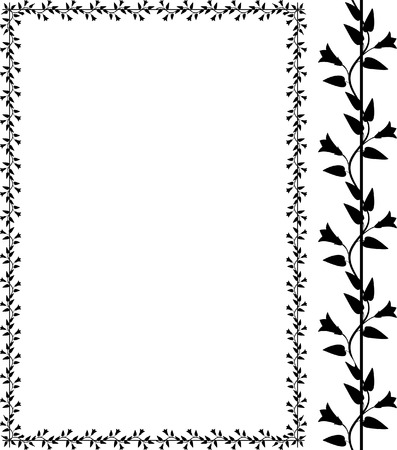 borderframe: Vector decorative bindweed frame Illustration
