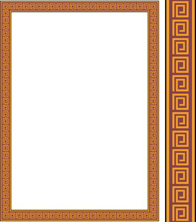arte greca: Cornice di antichi vettoriale