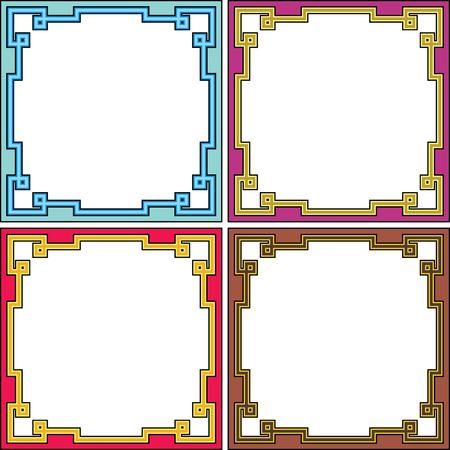 Vector decorative square frames Vector