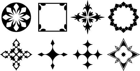 borderframe: Set of original vector design elements Illustration
