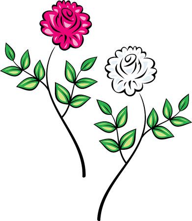 Original Vector Floral Ornament (Roses) Vector