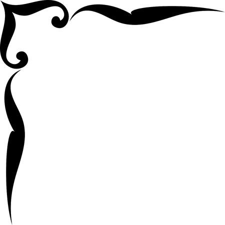 esquineros florales: Ornamento vector esquina