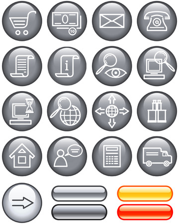 toolbar: E-Commerce Icon Set (Vector)