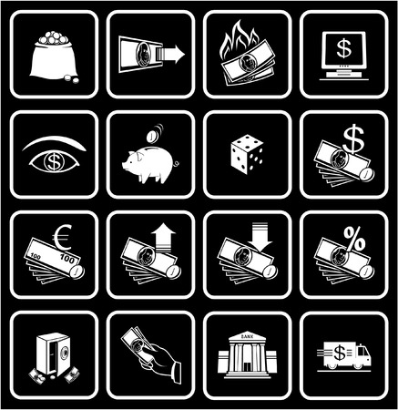 Finance, Banking Icons  Vector