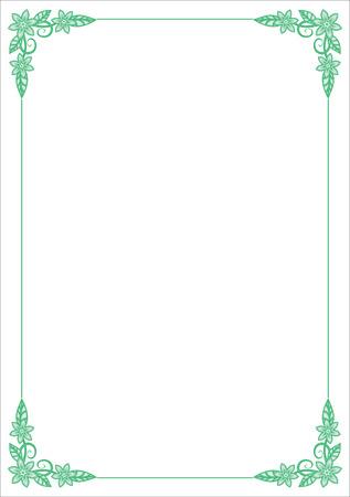 Vector Flower Border Stock Vector - 4960757