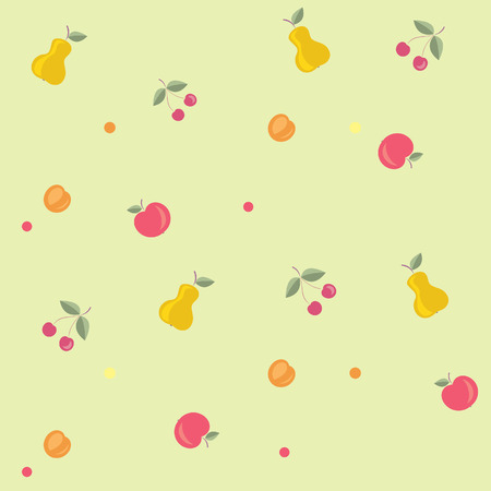 Seamless Texture - Fruits Vector