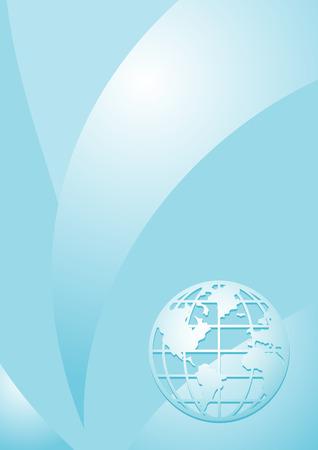 Blue vertical vector background Vector