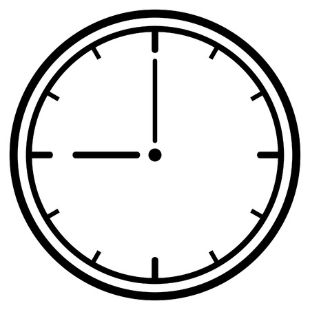 numerical: Clock Dial. Vector Illustration