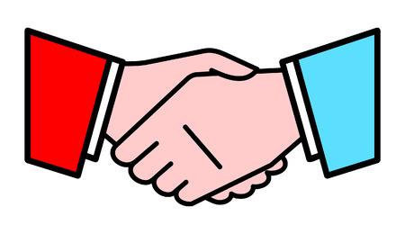 bargaining: Handshake. Vector Illustration
