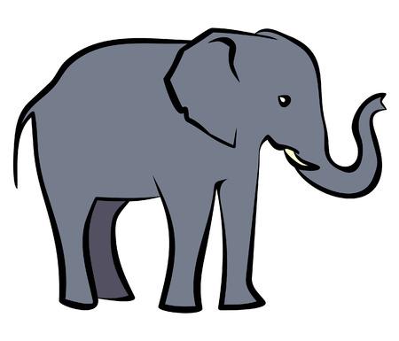 republican elephant: Baby Elephant. Vector Illustration