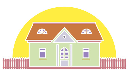 Country house vector illustration Stock Vector - 4961348
