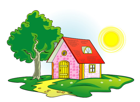 Country house vector illustration Stock Vector - 4961732