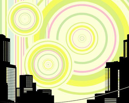 megapolis: Urban background. Vector Illustration Illustration