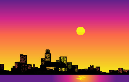 Big City Skyline. Vector Illustration Vector