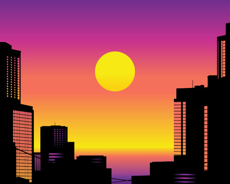 Big City Skyline. Vector Illustration Illustration
