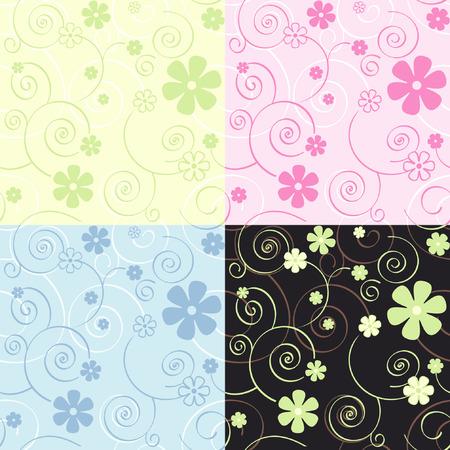 Seamless vector textile or wallpaper pattern Vector