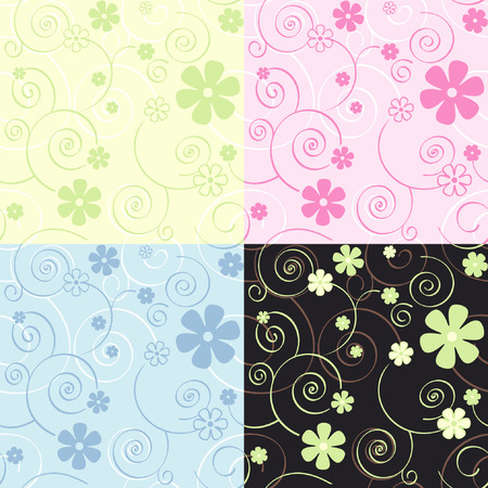 Seamless vector textile or wallpaper pattern Vector