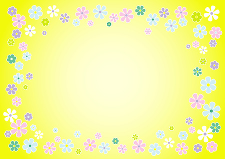 Contemporary floral background. Vector Illustration Vector
