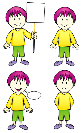 placards: Vector Comic Character - Boy